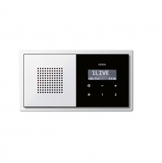 Радио cкрытый монтаж RDS с рамками Gira E2 049572