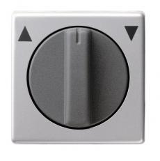 Накладка с поворотной ручкой для выключателя системы управления жалюзи Gira E22 0666203